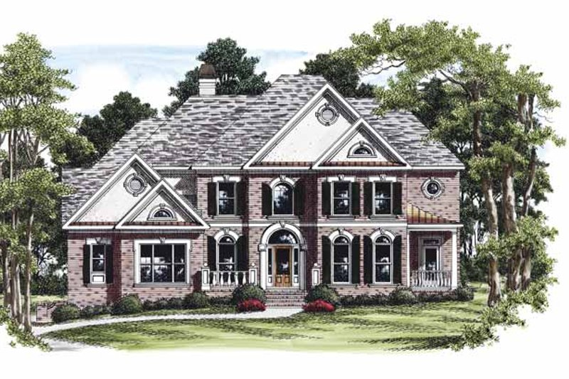 Colonial Exterior - Front Elevation Plan #927-456