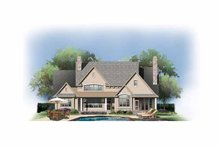 Home Plan - European Exterior - Rear Elevation Plan #929-870