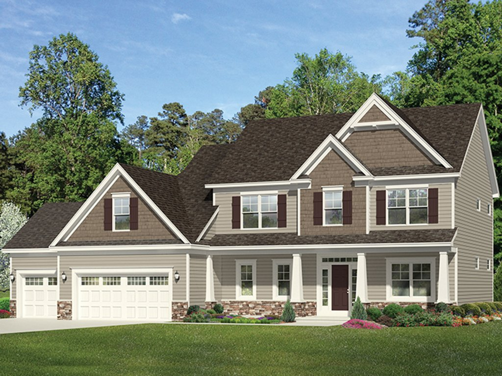 Traditional style house plan 4 beds 2 5 baths 2665 sq ft for Traditional home plans