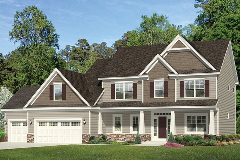 Traditional Exterior - Front Elevation Plan #1010-158 - Houseplans.com