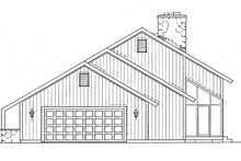 House Blueprint - Contemporary Exterior - Other Elevation Plan #72-763