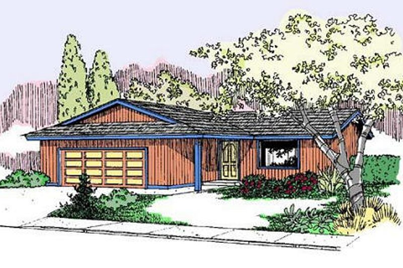 Ranch Exterior - Front Elevation Plan #60-559 - Houseplans.com