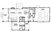 Country Style House Plan - 3 Beds 3.5 Baths 2963 Sq/Ft Plan #928-278 Floor Plan - Main Floor Plan