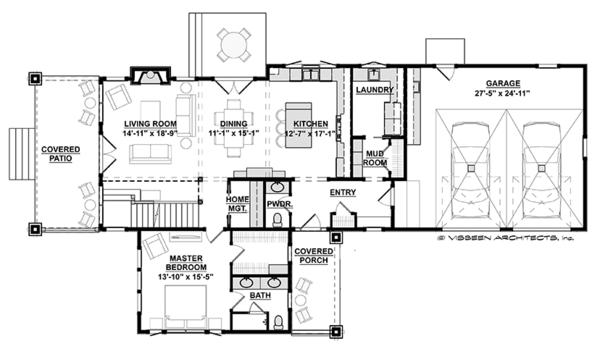 Country Floor Plan - Main Floor Plan Plan #928-278
