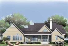 Home Plan - Country Exterior - Rear Elevation Plan #929-789