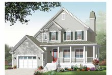 Dream House Plan - Country Exterior - Front Elevation Plan #23-2443