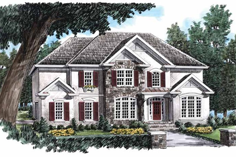 Country Exterior - Front Elevation Plan #927-688