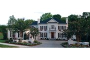 Colonial Style House Plan - 5 Beds 5.5 Baths 5432 Sq/Ft Plan #453-27 Exterior - Front Elevation