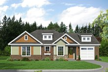 Craftsman Exterior - Front Elevation Plan #932-201
