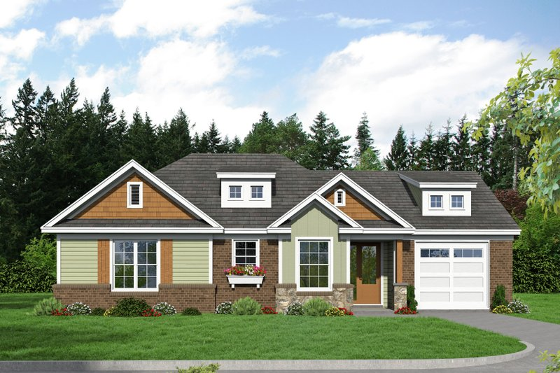 Home Plan - Craftsman Exterior - Front Elevation Plan #932-201