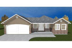 Home Plan Design - Ranch Exterior - Front Elevation Plan #1060-22