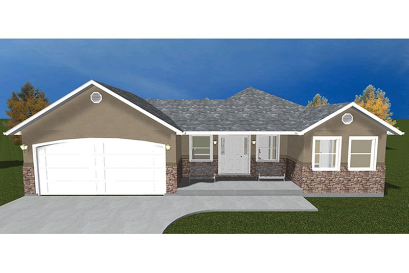 Dream House Plan - Ranch Exterior - Front Elevation Plan #1060-22