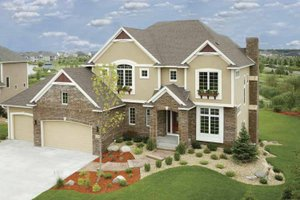 Architectural House Design - Traditional Exterior - Front Elevation Plan #320-1002