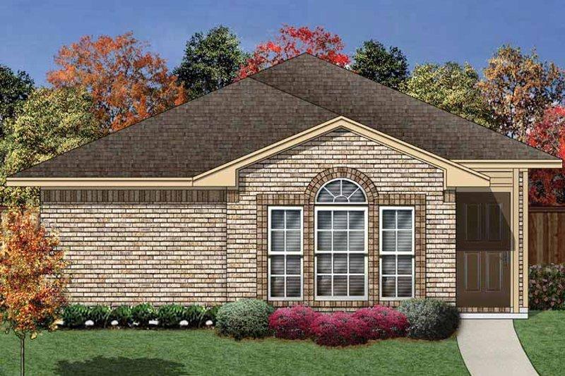 Ranch Exterior - Front Elevation Plan #84-658 - Houseplans.com