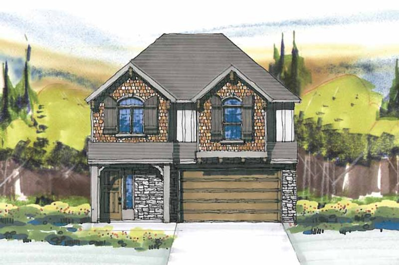 Prairie Exterior - Front Elevation Plan #509-235