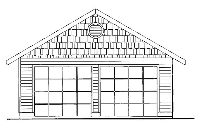 Traditional Style House Plan - 0 Beds 0 Baths 591 Sq/Ft Plan #117-716 Exterior - Front Elevation