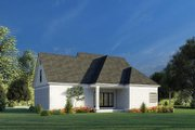 Traditional Style House Plan - 3 Beds 2.5 Baths 1684 Sq/Ft Plan #923-191 Exterior - Rear Elevation
