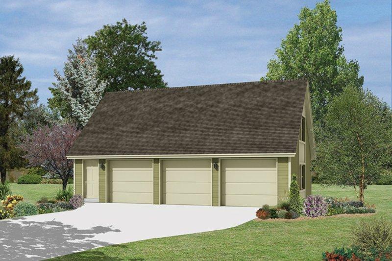 Exterior - Front Elevation Plan #57-630 - Houseplans.com