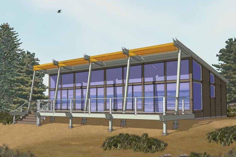 Contemporary Exterior - Front Elevation Plan #569-27 - Houseplans.com