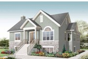 Colonial Style House Plan - 4 Beds 2 Baths 2226 Sq/Ft Plan #23-2521 Exterior - Front Elevation