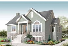 Home Plan - Colonial Exterior - Front Elevation Plan #23-2521