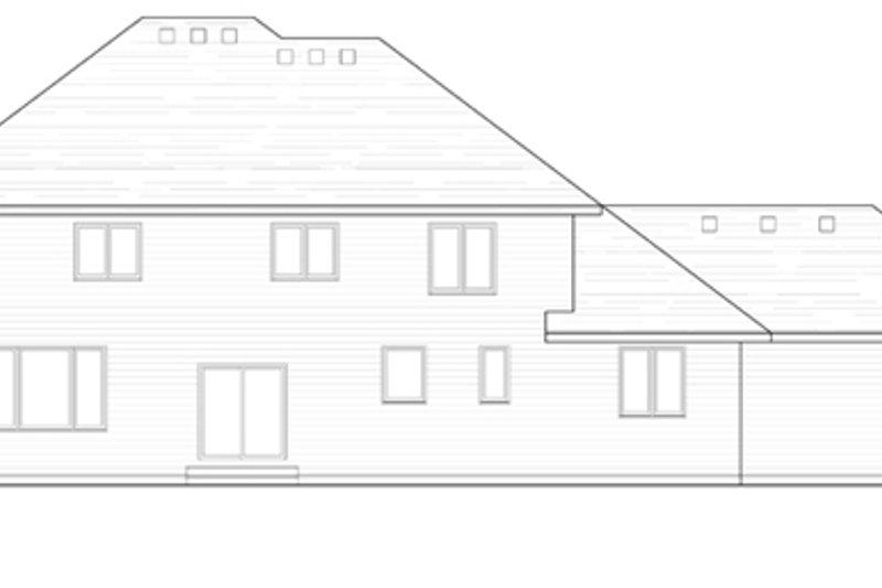 Craftsman Exterior - Rear Elevation Plan #51-412 - Houseplans.com