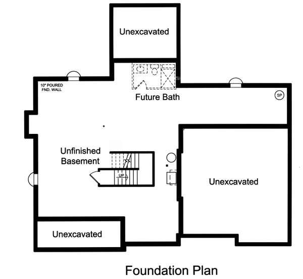 House Plan Design - Unfinished Basement Foundation
