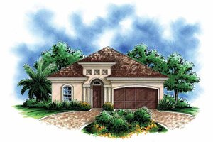 Architectural House Design - Mediterranean Exterior - Front Elevation Plan #1017-112