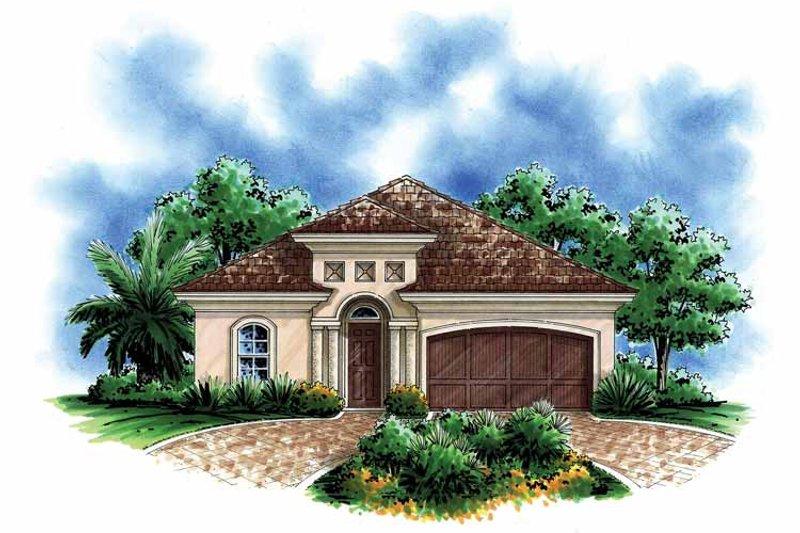 House Design - Mediterranean Exterior - Front Elevation Plan #1017-112