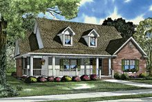 Country Exterior - Front Elevation Plan #17-3199