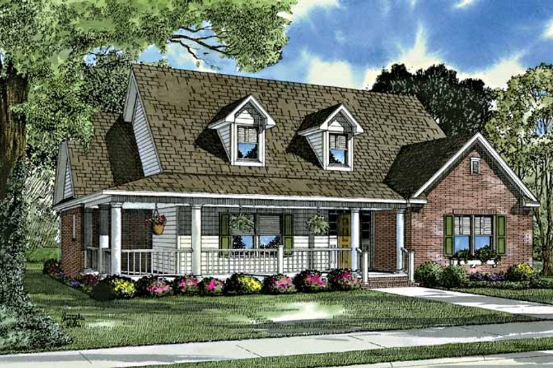 Dream House Plan - Country Exterior - Front Elevation Plan #17-3199