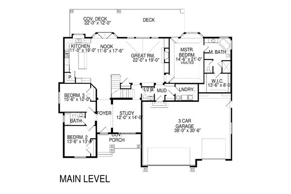 Traditional Floor Plan - Main Floor Plan Plan #920-78