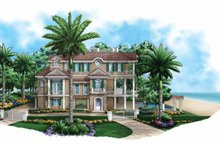 Mediterranean Exterior - Front Elevation Plan #1017-135