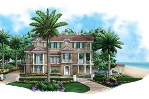 House Design - Mediterranean Exterior - Front Elevation Plan #1017-135