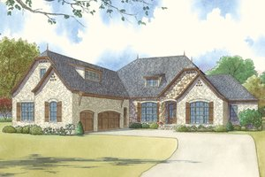 House Design - European Exterior - Front Elevation Plan #17-3414