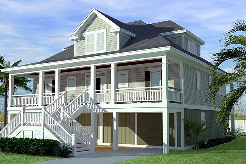 Country Exterior - Front Elevation Plan #991-31 - Houseplans.com