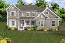 Home Plan - Country Exterior - Front Elevation Plan #56-544