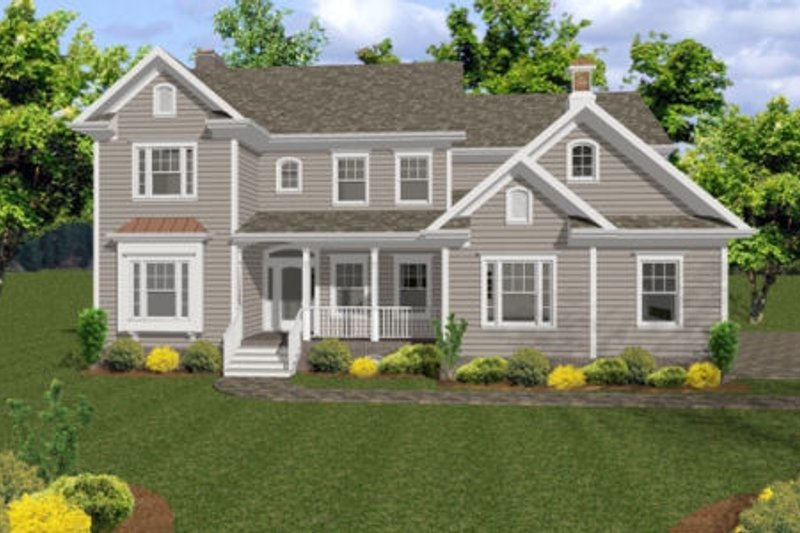 Architectural House Design - Country Exterior - Front Elevation Plan #56-544