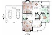 Victorian Style House Plan - 3 Beds 2.5 Baths 2590 Sq/Ft Plan #23-835 Floor Plan - Main Floor