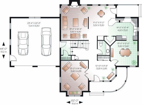 Victorian Floor Plan - Main Floor Plan #23-835