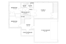 Traditional Floor Plan - Lower Floor Plan Plan #1060-19