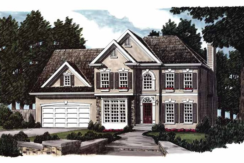 House Plan Design - European Exterior - Front Elevation Plan #927-158