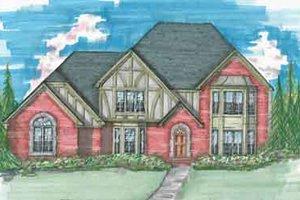 Tudor Exterior - Front Elevation Plan #136-108