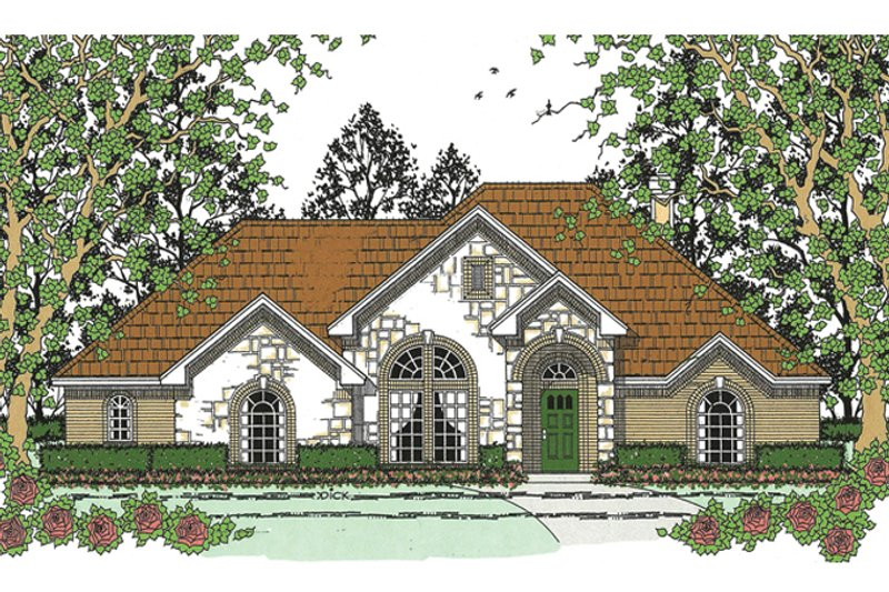 Traditional Exterior - Front Elevation Plan #42-723 - Houseplans.com