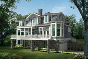 Architectural House Design - Craftsman Exterior - Front Elevation Plan #132-474