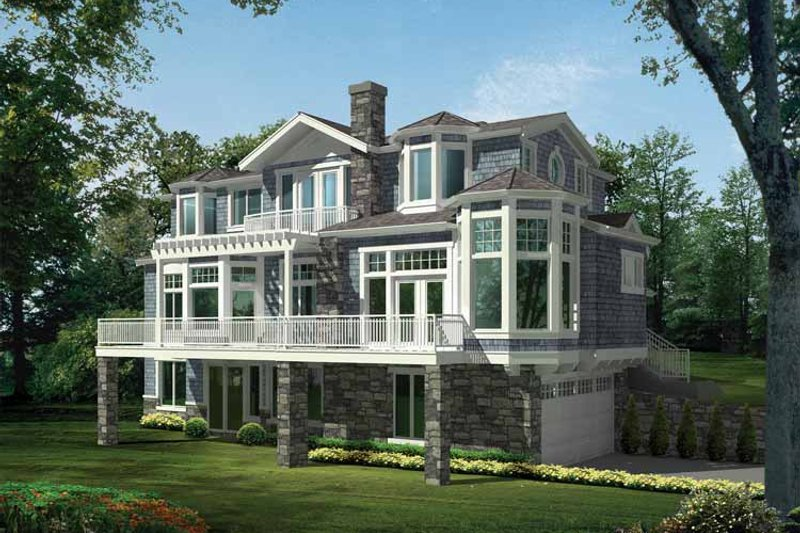 Craftsman Exterior - Front Elevation Plan #132-474