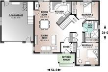 Traditional Floor Plan - Main Floor Plan Plan #23-2498