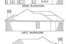 Home Plan Design - Traditional Exterior - Rear Elevation Plan #17-117