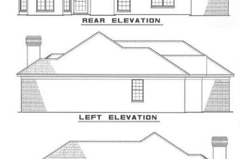 Traditional Exterior - Rear Elevation Plan #17-117 - Houseplans.com