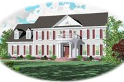 Colonial Style House Plan - 4 Beds 3.5 Baths 2553 Sq/Ft Plan #81-260 Exterior - Front Elevation